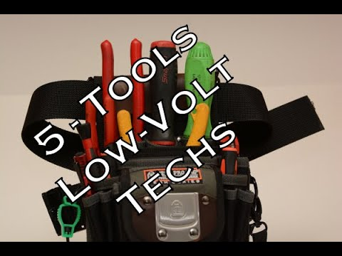 VIDEO: 5 Tools for Every Low Voltage/Security Technician