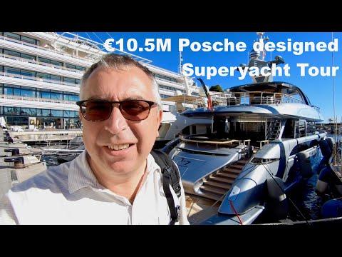VIDEO: 10.5M Porsche designed Superyacht Tour
