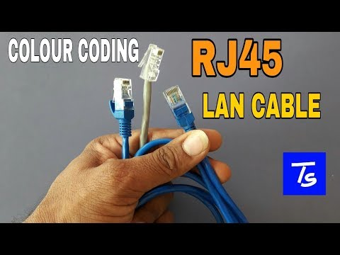 Rj45 color coding Connector cat6 straight cable Patch cord (LAN Cable) color  code making in hindi. - TotalityTotality Solutions