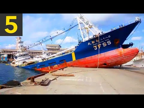 VIDEO: Top 5 Ship Docking Fails – Boats VS Land